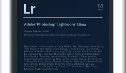 Lightroom 5 splash