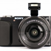 Sony Nex-3n - Front with Flash Up