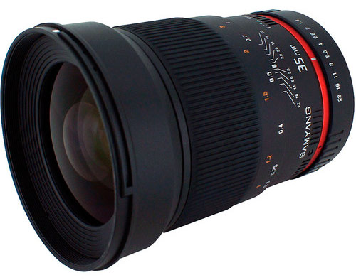 Samyang 35mm f/1.4 Wide-Angle US UMC Aspherical Lens for Sony