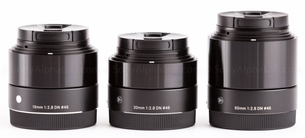 All Three Sigma E-Mount Art Series Lenses