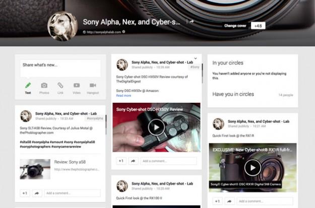 SonyAlphaLab - Google + Fan Page
