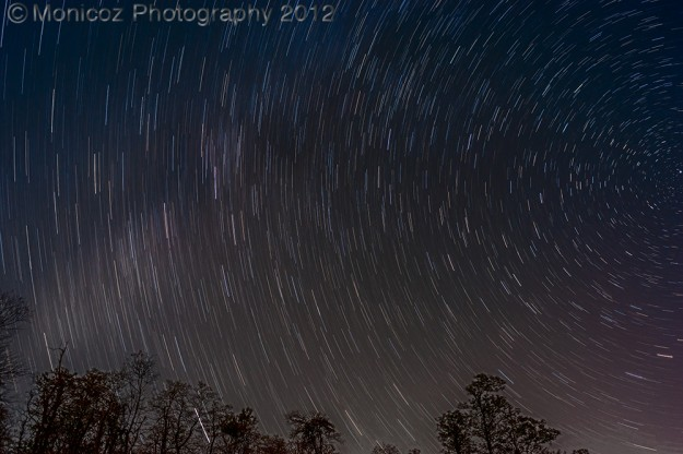 Star Trails in the Shenandoah