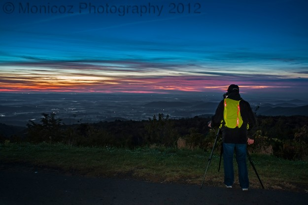 Me setting up to capture a sunrise shot