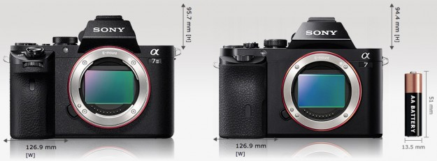 Sony A7 vs A7II Size Comparison