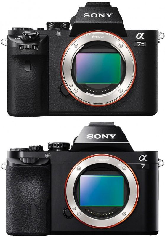 Sony a7II vs a7 - Front