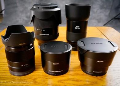 Unboxing 5 lenses