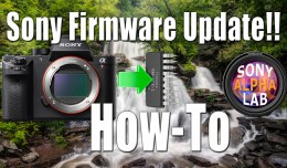 Updating Sony Camera Firmware