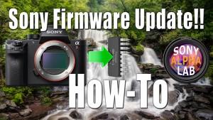Updating Sony Camera Firmware