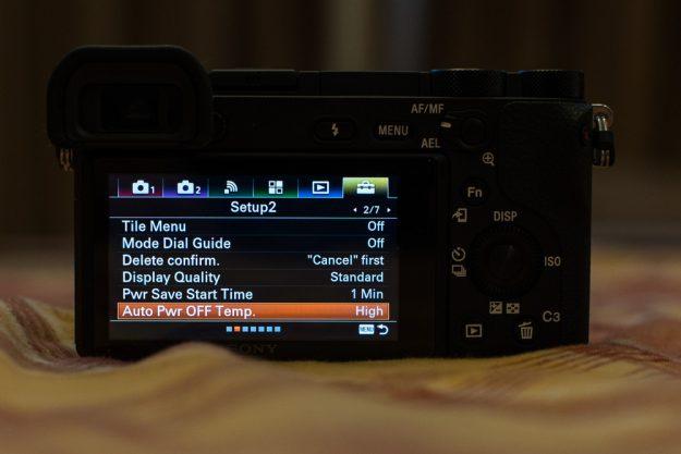 Sony A6500 - Auto Power OFF Temp.
