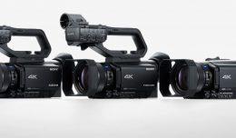 XDCAM PXW-Z90, NXCAM HXR-NX80 and Handycam FDR-AX700