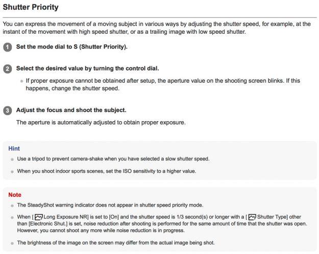 Shutter Priority